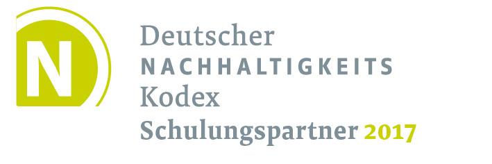 Logo Deutscher Nachhaltigkeitskodex Schulungspartner 2017