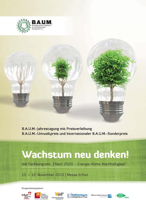 Programmbroschüre zur B.A.U.M.-Jahrestagung mit Fachkongress ENact2020 der Rittweger und Team Werbeagentur