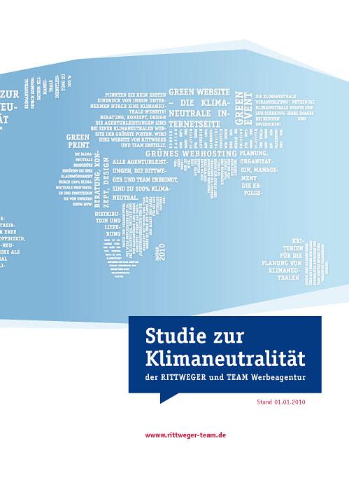 Studie zur Klimaneutralität 2010 der RITTWEGER und TEAM Werbeagentur