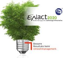 Leitmotiv ENact2020. Bessere Resultate beim Umweltmanagement - Konzept und Design Veranstaltungsformat durch die Rittweger + Team Werbeagentur, BAUM e.V. und HPI