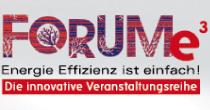Logo Forum e3 - Energie Effizienz ist einfach. Die innovative Veranstaltungsreihe entwickelt durch die Rittweger + Team Werbeagentur