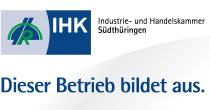 Zertifizierung der Werbeagentur RITTWEGER und TEAM als anerkannter Ausbildungsbetrieb durch die IHK Südthüringen