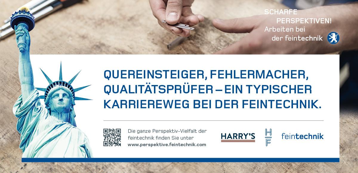 Kampagnenmotiv Quereinsteiger, Fehlermacher, Qualitätsprüfer – Karriereweg bei der Feintechnik GmbH Eisfeld zur Entwicklung der Arbeitgebermarke durch die Rittweger + Team Werbeagentur GmbH