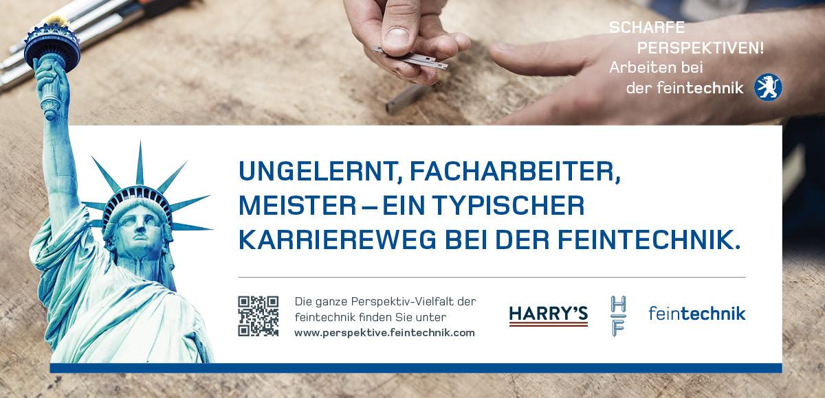Kampagnenmotiv Ungelernt, Facharbeiter, Meister – Karriereweg bei der Feintechnik GmbH Eisfeld zur Entwicklung der Arbeitgebermarke durch die Rittweger + Team Werbeagentur GmbH