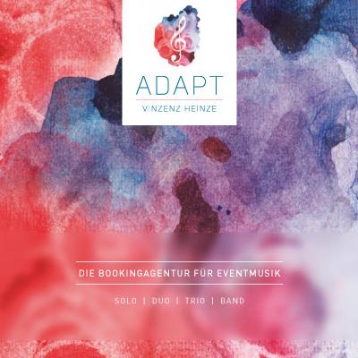 Kommunikations- und Designkonzept ADAPT Bookingagentur Vinzenz Heinze + ANNRED®, Erfurt
