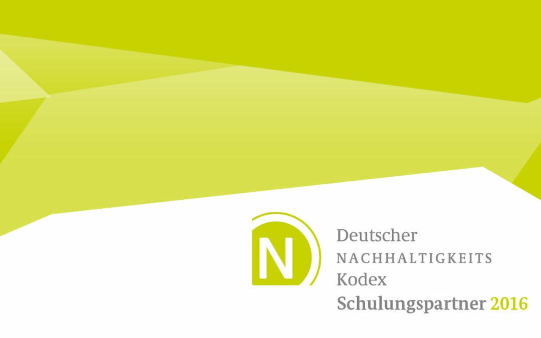 RITTWEGER + TEAM ist zertifizierter Schulungspartner des Deutschen Nachhaltigkeitskodex 2016