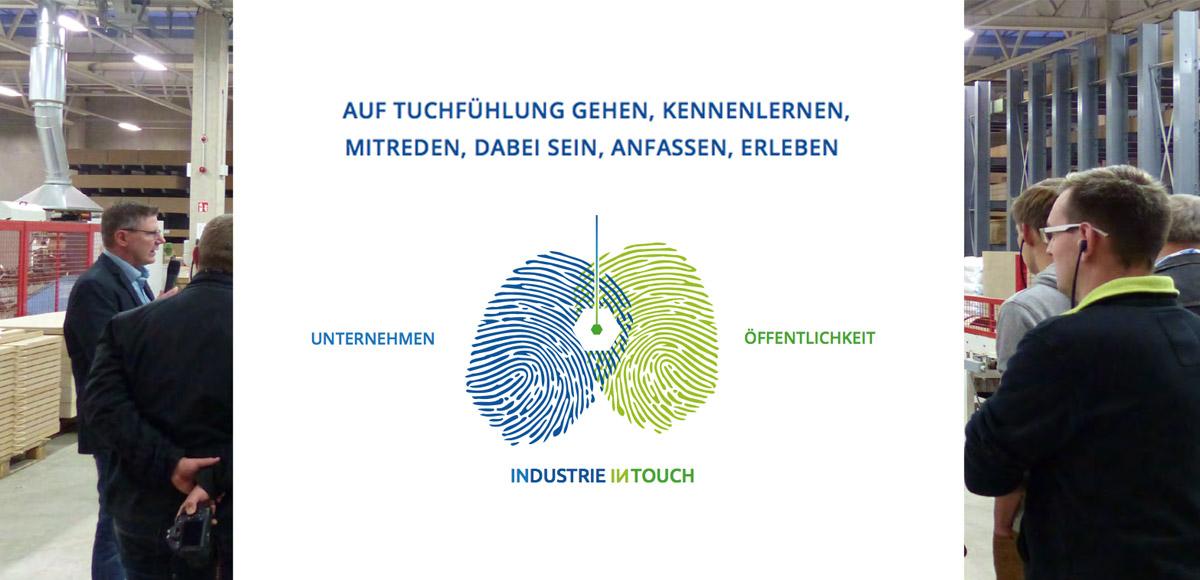 Motiv Zusammenbringen von Unternehmen und Öffentlichkeit bei der Veranstaltung Industrie inTouch Thüringer Wald