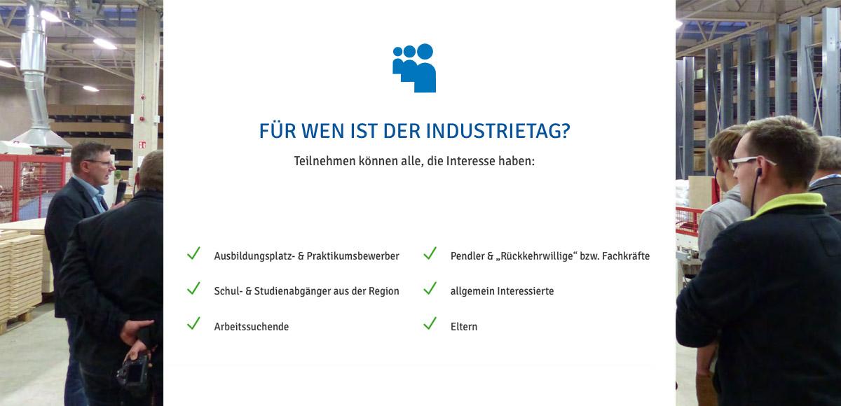 Motiv Zielgruppe Veranstaltung Industrie inTouch Thüringer Wald - Für wen ist der Industrietag?