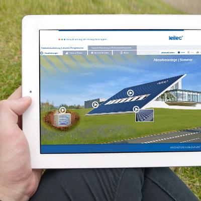 Interaktive Gebäudevisualisierung Energiekonzept leitec® Gebäudetechnik GmbH