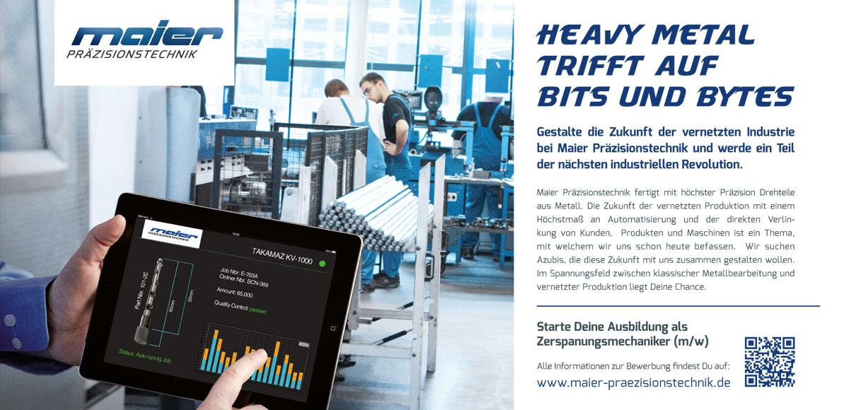 Maier Präzisionstechnik: Heavy Metal trifft auf Bits und Bytes – Kampagnenentwicklung zum Aufbau der Arbeitgebermarke durch die Rittweger + Team Werbeagentur