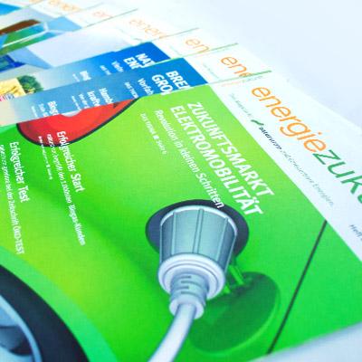 """Designentwicklung Kundenmagazin """"energiezukunft"""" der Naturstrom AG"""