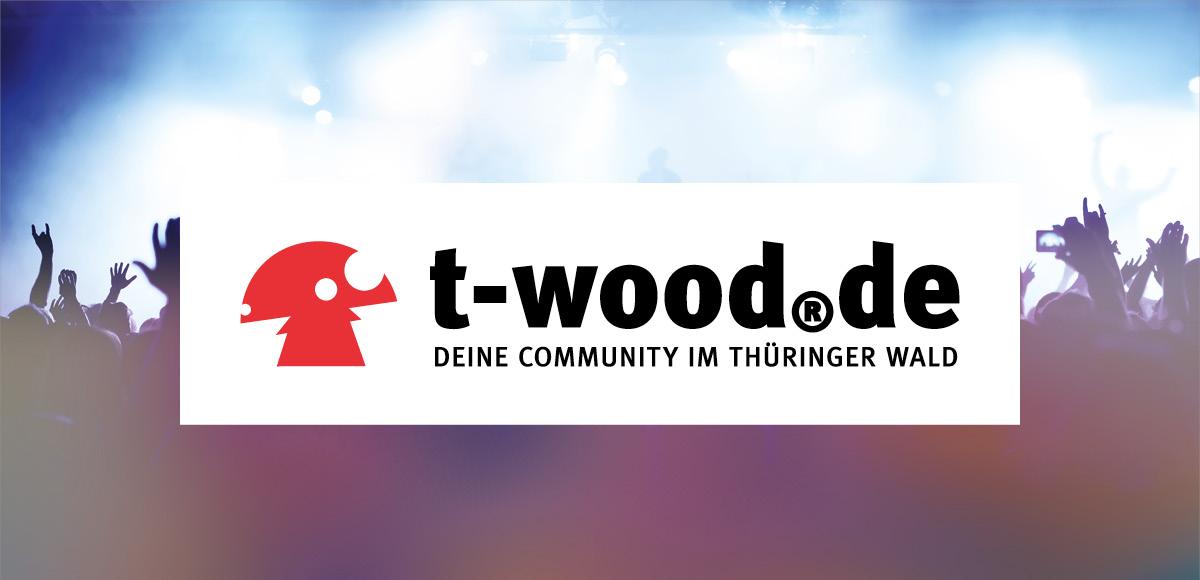 Logo t-wood.de deine Community inklusive Leitmotiv der Jugendcommunity - Relaunch Corporate Design durch die Rittweger + Team Werbeagentur