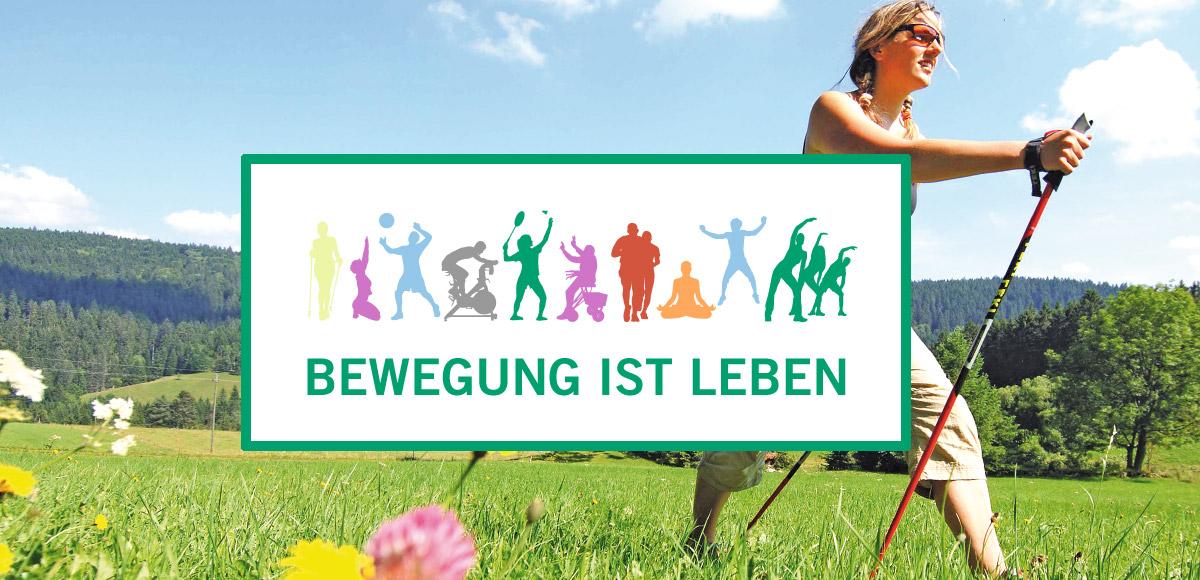 """Leitmotiv Konzept """"Bewegung ist Leben"""" der Asklepios Klinik Triberg"""