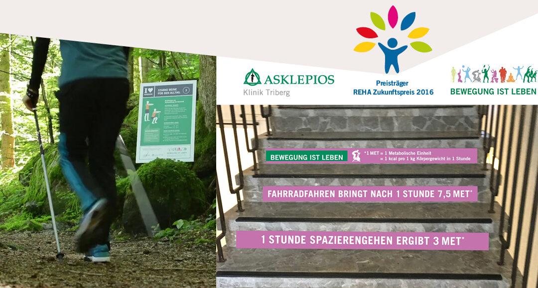 Unser Kunde Asklepios Klinik Triberg gewinnt mit unserem Konzept Reha-Zukunftspreis 2016.