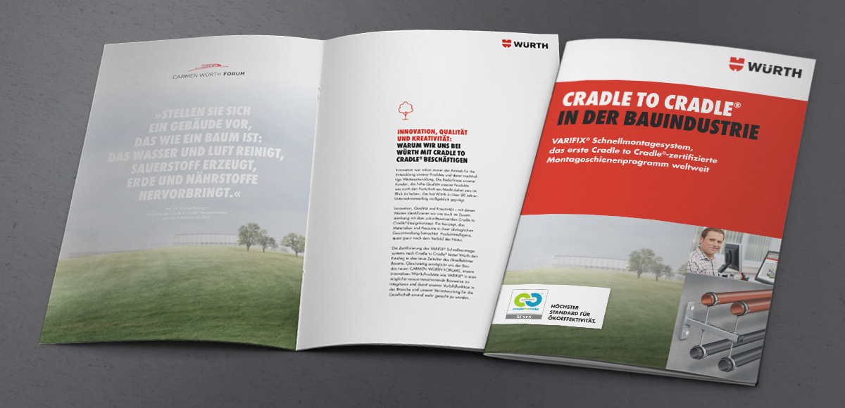 Kommunikationskonzept Cradle to Cradle® in der Bauindustrie für die Adolf Würth GmbH & Co. KG