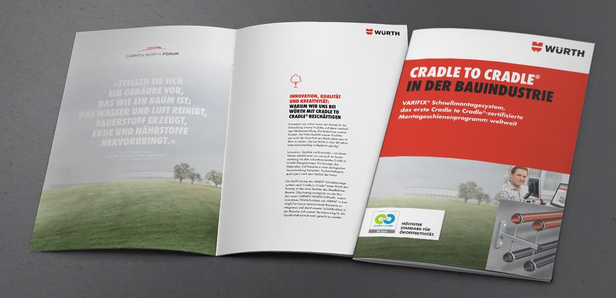 Design der Verkaufsbroschüre für VARIFIX® von Würth