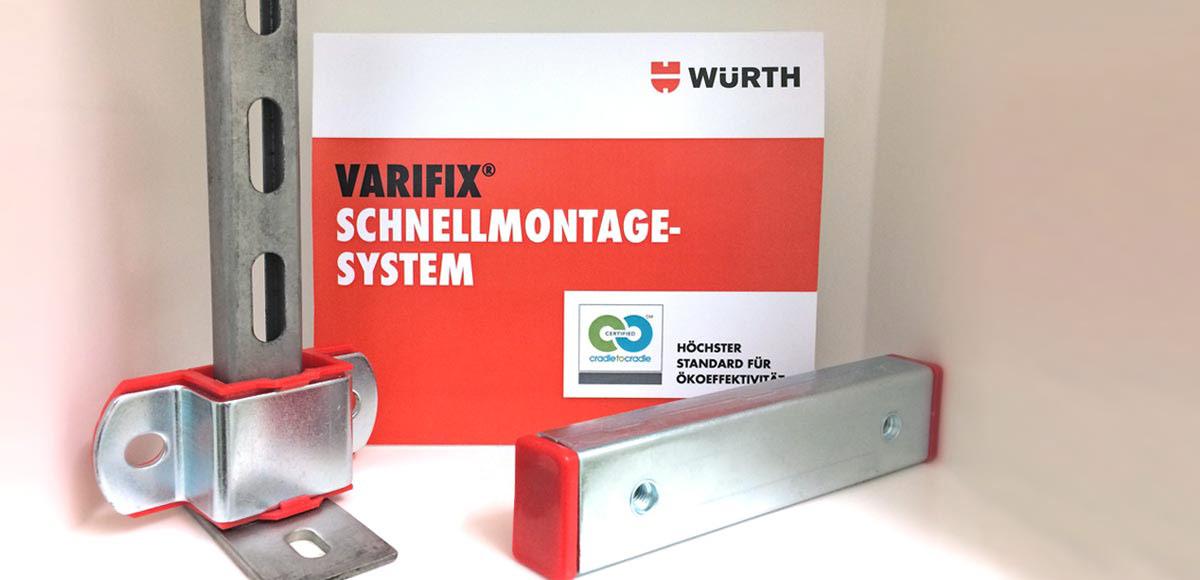 VARIFIX® von Würth – das erste Cradle to Cradle®-zertifizierte Montageschienenprogramm weltweit