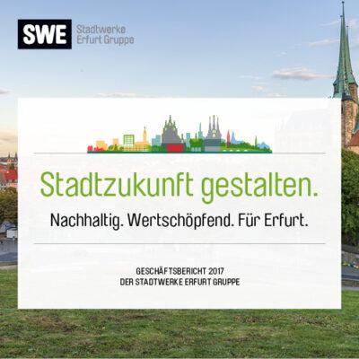 Konzept und Design Geschäftsbericht der SWE Stadtwerke Erfurt Gruppe