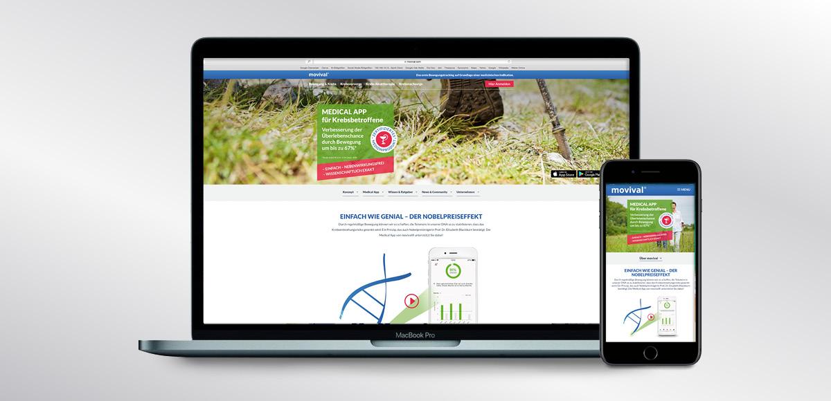 Startseitenmotiv von movival GmbH mit dem Nobelpreiseffekt der Telomerase
