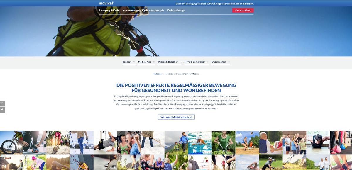 Webseitenmotiv Die positiven Effekte regelmäßiger Bewegung für Gesundheit und Wohlbefinden