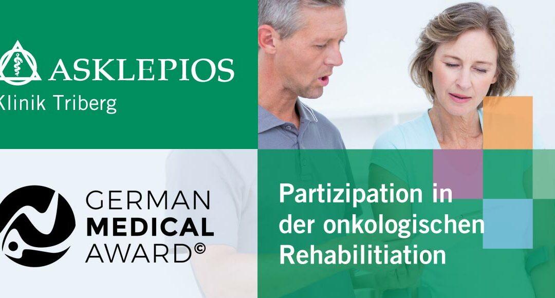 Nominiert für den German Medical Award 2020: Kommunikationskonzept Partizipative Reha in der Asklepios Klinik Triberg