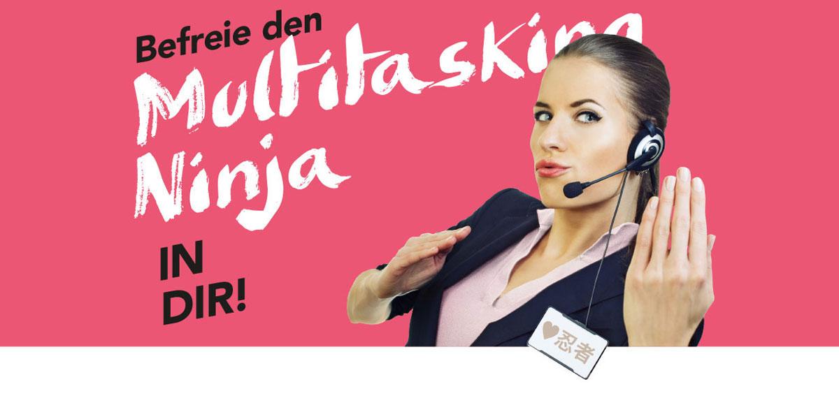 "Motiv Arbeitgebermarketing Hotel Schwarzwald Panorama ""Befreie den Multitasking Ninja in dir!"""