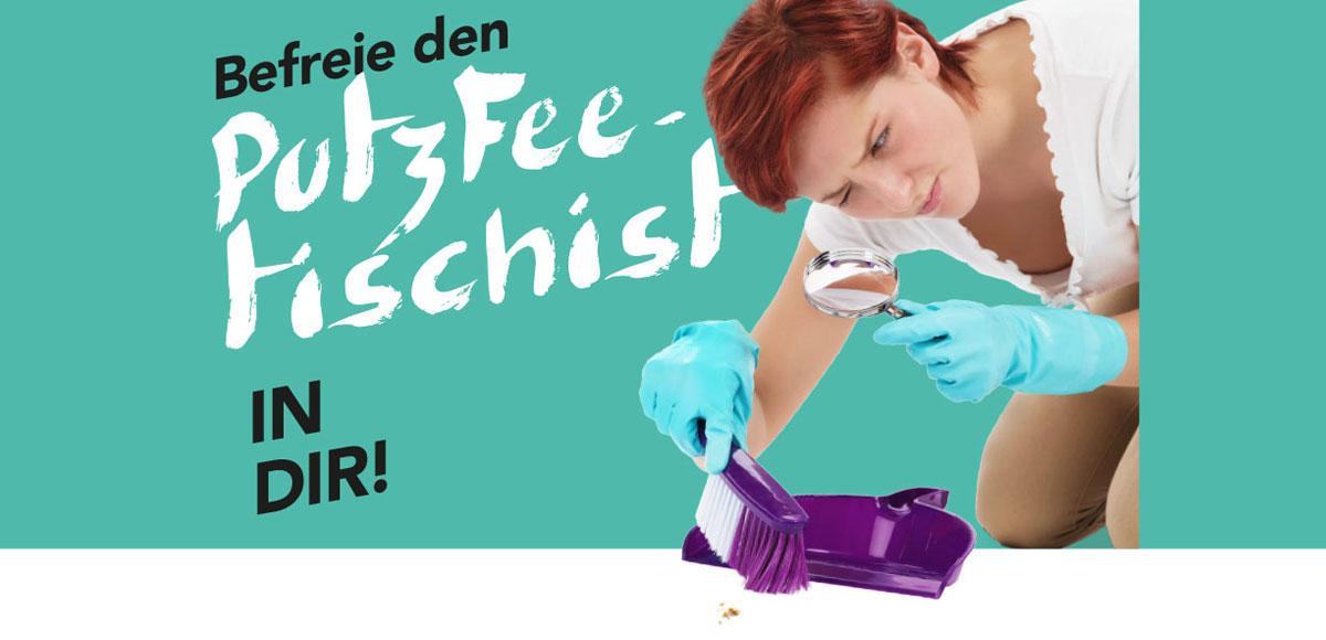 """Motiv Arbeitgebermarketing Hotel Schwarzwald Panorama """"Befreie den PutzFeetischist in dir!"""""""