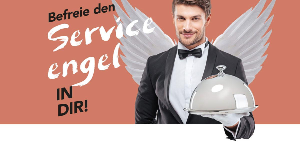 """Motiv Arbeitgebermarketing Hotel Schwarzwald Panorama """"Befreie den Serviceengel in dir!"""""""