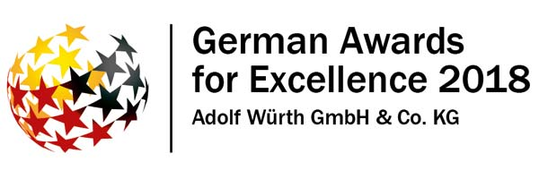 Logo des German Awards for Excellence 2018, Gewinner Adolf Würth GmbH & Co. KG