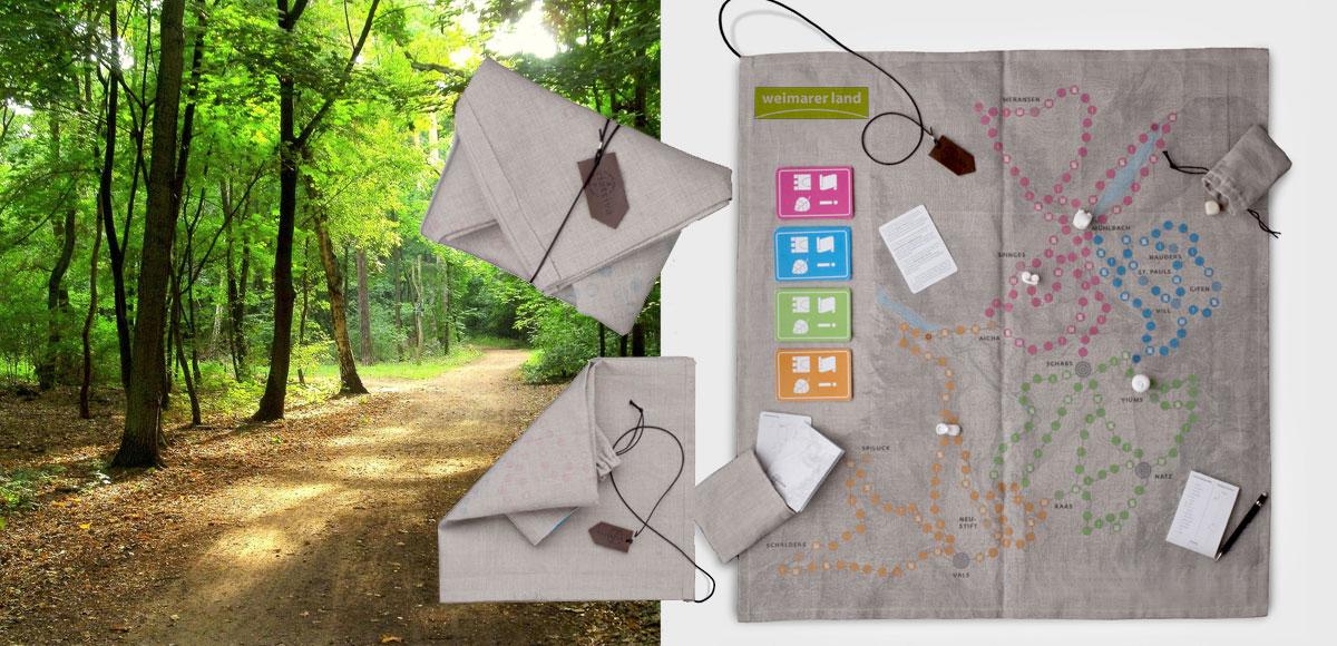 Konzept zur medialen Inszenierung am Goethe-Wanderweg mit Routenführung und medialer Ausstattung