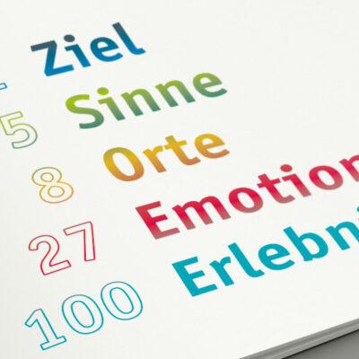 Themenkonzeption, Design, Innenarchitektur, Digitalisierungskonzept und Ausführungsbegleitung beim Neubau der Tourist-Information Steinbach-Hallenberg
