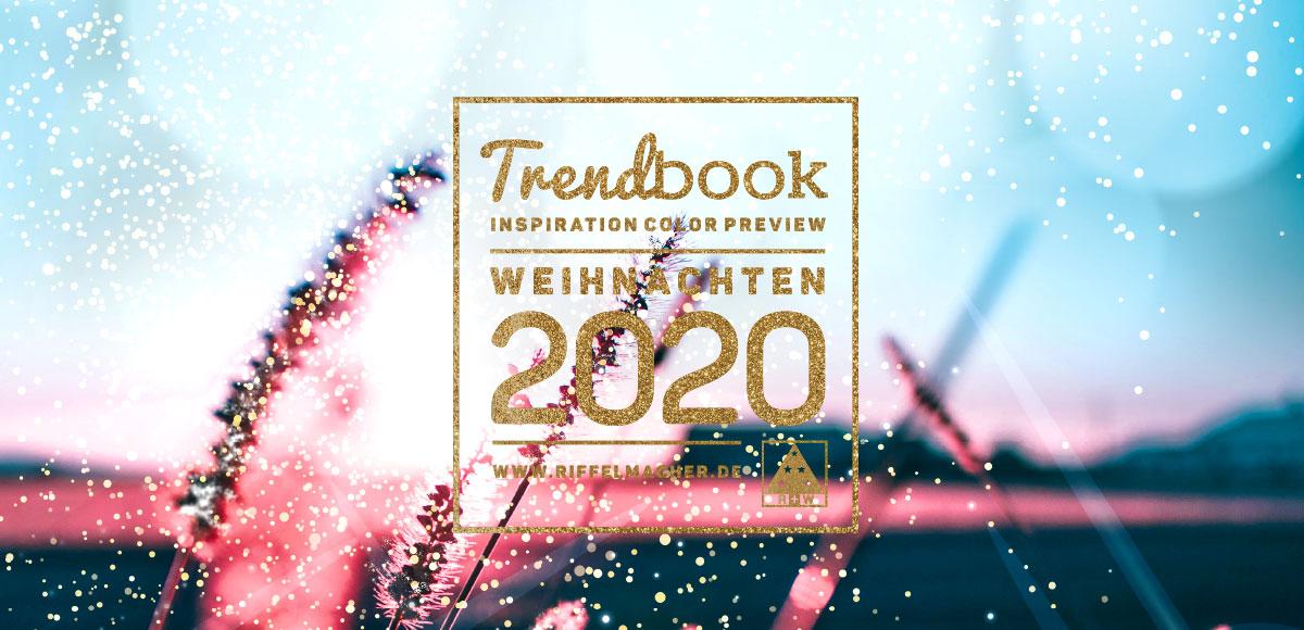Titelseite des Trendbooks Weihnachten 2020 von Riffelmacher & Weinberger Christbaumschmuck