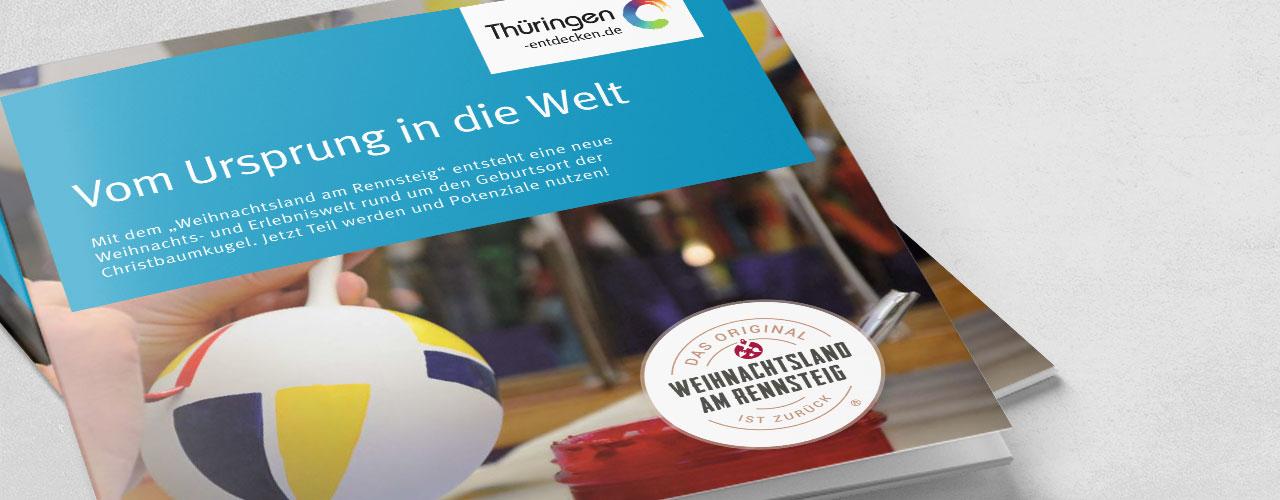 Broschüre der TTG Thüringen zur Partnerakquise Weihnachtsland am Rennsteig