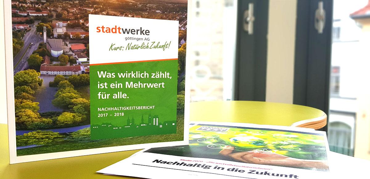 Nachhaltigkeitsbericht 2015/2016 der Stadtwerke Göttingen und Bericht über Deutschland wertvollste Unternehmen