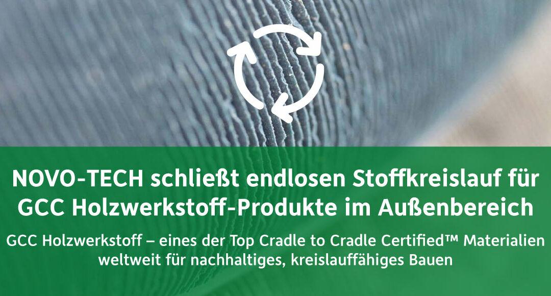 Kommunikationskonzept zur Cradle to Cradle™ Zertifizierung des Holzwerkstoffes für megawood-Produkte von NOVO-TECH