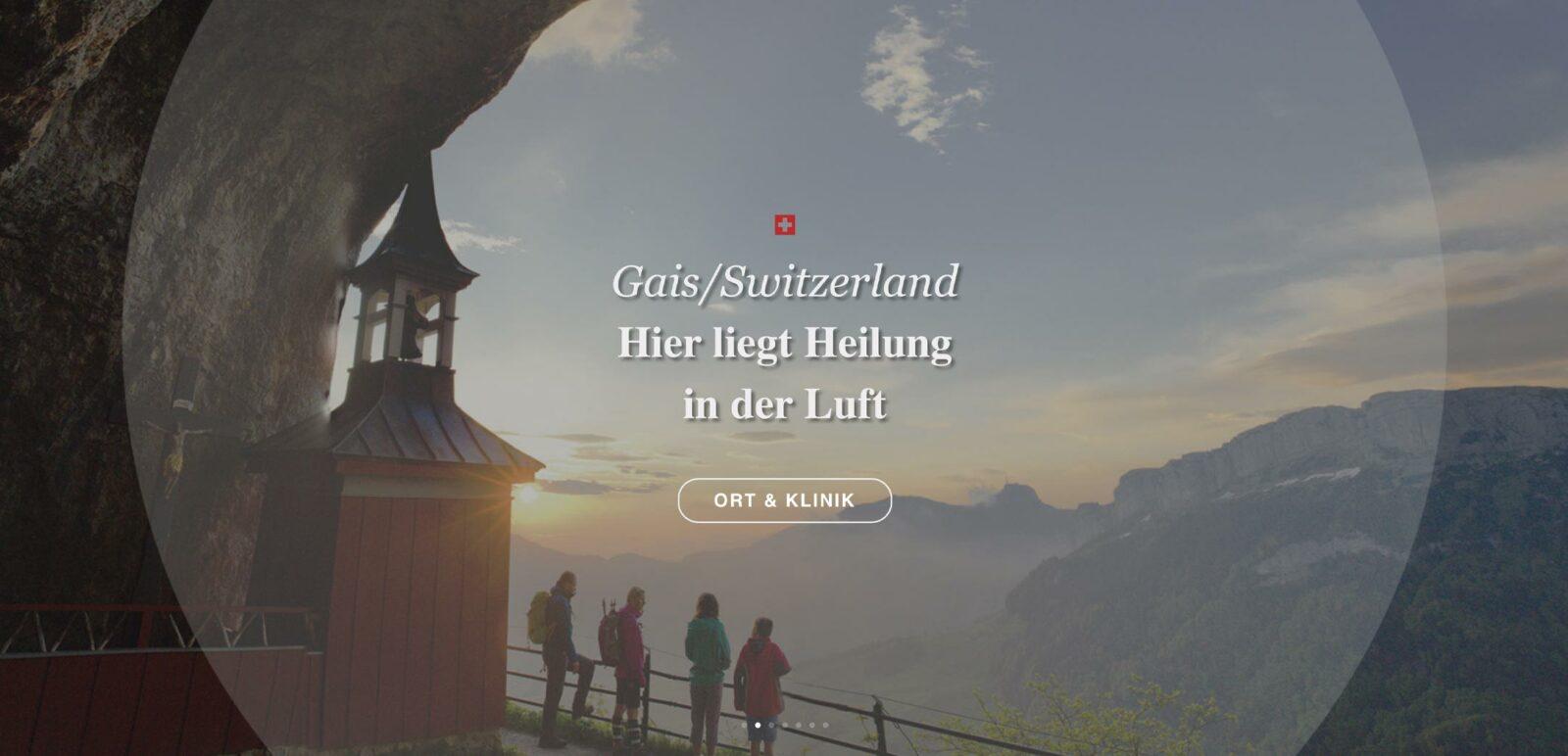 Leitmotiv der Alpstein Clinic in Gais/Schweiz entwickelt durch die Rittweger + Team Werbeagentur
